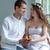 feleség · férj · tart · babacipők · terhes · kicsi - stock fotó © master1305