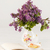 beker · thee · bloemen · oude · houten - stockfoto © master1305