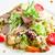 marul · ızgara · taze · salata · ızgara · tavuk · fındık - stok fotoğraf © master1305
