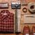 közelkép · kockás · póló · fából · készült · ruházat · divat - stock fotó © master1305