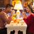 cină · restaurant · ziua · indragostitilor · cina · de · masă · rustic - imagine de stoc © master1305