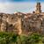 eski · taş · ortaçağ · kasaba · Toskana · İtalya - stok fotoğraf © master1305