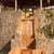 wooden gazebo with a waterfall egypt stock photo © master1305
