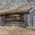 kicsi · fából · készült · kunyhó · erdő · öreg · este - stock fotó © master1305