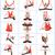 mulher · ioga · silhueta · menina · equilíbrio - foto stock © master1305