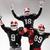 три · американский · футбола · позируют · мяча - Сток-фото © master1305
