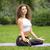 csinos · nő · jóga · meditáció · lótusz · pozició · csukott · szemmel - stock fotó © master1305
