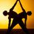 yoga · méditation · silhouettes · personnes · coucher · du · soleil · silhouette - photo stock © master1305