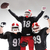the three american football players posing on white background stock photo © master1305