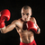 the young man kickboxing on black stock photo © master1305