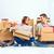 mutlu · aile · tamir · aile · oturma · kutuları - stok fotoğraf © master1305