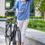hipszter · nő · klasszikus · út · bicikli · város - stock fotó © master1305