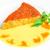 wafel · cake · perziken · room · ingericht · mint - stockfoto © master1305
