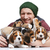 homem · grande · grupo · bigle · filhotes · de · cachorro · feliz - foto stock © master1305
