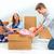 famiglia · felice · riparazione · famiglia · sistemazione · scatole · casa - foto d'archivio © master1305