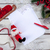fiche · papier · table · en · bois · stylo · Noël · décorations - photo stock © master1305