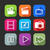 flat icons for web and mobile applications with creative industry itemsflat design with long shadow stock photo © maximmmmum