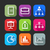 flat icons for web and mobile applications flat design with long shadows stock photo © maximmmmum