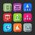 セット · アプリケーション · webアイコン · デザイン · 長い · 影 - ストックフォト © maximmmmum