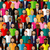 vector seamless pattern with a large group of guys and men flat illustration of male community stock photo © maximmmmum