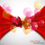 background with red bow and flying transparent balloons stock photo © maximmmmum
