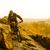 ciclista · equitação · bicicleta · montanha · trilha · pôr · do · sol - foto stock © maxpro