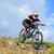profi · kerékpáros · lovaglás · bicikli · lefelé · domb - stock fotó © maxpro