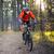 ciclista · equitação · bicicleta · belo · outono · floresta - foto stock © maxpro