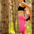 young fitness woman stretching her legs in the pine forest female runner doing stretches healthy stock photo © maxpro