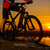 enduro cyclist riding the mountain bike on the rocky trail at sunset active lifestyle concept stock photo © maxpro