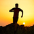 young sportsman running on the rocky mountain trail at sunset active lifestyle stock photo © maxpro