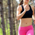 young woman running on the trail in the beautiful wild pine forest active lifestyle concept space stock photo © maxpro