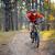 ciclista · equitação · bicicleta · trilha · floresta · belo - foto stock © maxpro