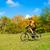 kerékpáros · lovaglás · bicikli · nyom · erdő · gyönyörű - stock fotó © maxpro