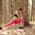 young fitness woman stretching in the pine forest female runner doing stretches healthy lifestyle stock photo © maxpro