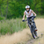 Cyclist Riding the Bike on the Trail in the Beautiful Forest stock photo © maxpro