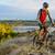 велосипедист · верховая · езда · велосипедов · красивой · горные · тропе - Сток-фото © maxpro