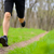 young sportsman running on the spring forest trail in morning legs close up view stock photo © maxpro