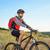 ciclista · equitação · bicicleta · belo · montanha · trilha - foto stock © maxpro