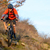 enduro cyclist riding the mountain bike on the rocky trail extreme sport concept space for text stock photo © maxpro