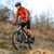 Enduro Cyclist Riding the Mountain Bike on the Rocky Trail. Extreme Sport Concept. Space for Text. stock photo © maxpro