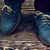 blue suede shoes stock photo © maxsol7