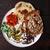 carne · de · porco · sino · pimentas · grelhado · abacate · cebolas - foto stock © maxsol7