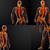 3D · renderelt · kép · piros · csontváz · tudomány · izom - stock fotó © maya2008