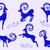 ingesteld · Blauw · berg · geiten · collectie · gestileerde - stockfoto © Mayamy