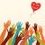 handen · hart · Valentijn · retro-stijl · kleurrijk - stockfoto © Mayamy