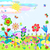 zomer · weide · gestileerde · landschap · grappig · bloemen - stockfoto © Mayamy