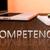 kompetencia · billentyűzet · 3d · render · illusztráció · szó · kék - stock fotó © mazirama