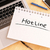 hotline · tekst · schoolbord · notebook · pennen · mobiele · telefoon - stockfoto © mazirama