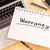 гарантия · текста · доске · ноутбук · ручках · мобильного · телефона - Сток-фото © mazirama